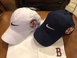 Rare Boston Red Sox Nike Dri-fit Golf Shirt And 2 Red Soxs Hats Double Sox's Logo