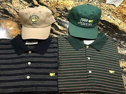 Augusta National Masters Golf Hats And Shirts Lot Of 4 See Pictures Nwt And Euc