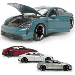 124 2019 Porsche Taycan Turbo S Coupe Model Car Diecast Collectible Vehicle