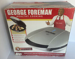 Nib George Foreman Gr1036p Grand Champ Extra Value Grill 133 Sq Cook Surface New