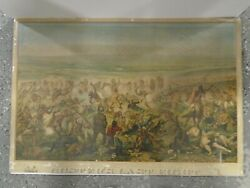 1896 Custer's Last Fight Chromolithograph Indians Breweriana Little Bighorn