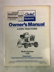 Cub Cadet Ownerand039s Manual Lawn Tractors Model Number 1225 Used