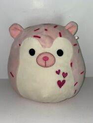 """Squishmallow Pink Hedgehog Pink Hearts 9""""rare Plush Pillow Toy 2017"""