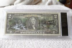 Bradford Exchange Uncirculated 2 Bill Note Smoky Mountains National Park