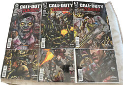 Call Of Duty Zombies 6 Issue Set 1 2 3 4 5 6 Dark Horse 1st Print Comic Lot