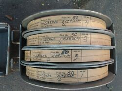 35mm Original Film Cans Reels Full Movie 4 Reels And Case Freedom In Denmark