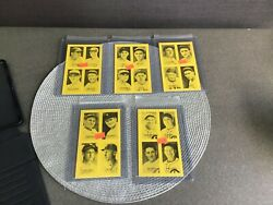 Lot Of 11 1977 Jim Rowe 4-on-1 Exhibits - Ruth, Cobb, Williams, Musial, Feller