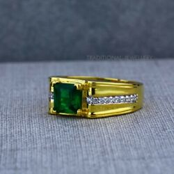Exclusive Heavy Solitaire Stone Ring 22k Yellow Gold Menand039s Gold Ring Cz Stone 31