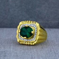 Exclusive Heavy Solitaire Stone Ring 22k Yellow Gold Menand039s Gold Ring Cz Stone 34