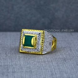 Exclusive Heavy Solitaire Stone Ring 22k Yellow Gold Menand039s Gold Ring Cz Stone 43
