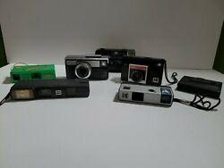 Lot Of 7 Antique Vintage Kodak Cameras And Another Brand
