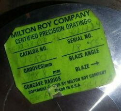 Milton Roy Company Certified Precision Diffraction Grating Fused Silica Arl 3460