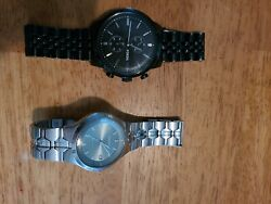 2 X Fossil Mens Watches Used Free Shipping