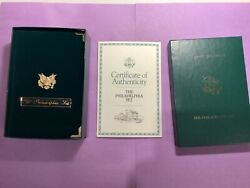 1993 American Eagle Phila. Gold And Silver Coins Rare Proof Set B41