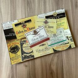 145 Benand039s Garden Antique Wine Labels Decoupage Glass Large Tray 9 X 14