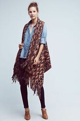 Anthropologie Plenty By Tracy Reese Canton Fringe Vest Size M/l 178 Nwt