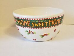Vintage 2000 Mary Engelbreit Home Sweet Home Peppermint Mixing Bowl