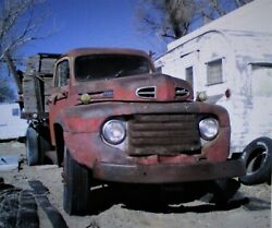 1950 Ford F6 Flatbed Truck No Dump Complete And Restorable Pick-up Only