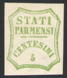 1859 Parma Government Temporary 5 Cent Verde Aster Ii Composition Nanddeg13 Mlh