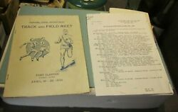 1935 Us Army Fort Clayton Panama Canal Zone Track And Field Meet Program + Results