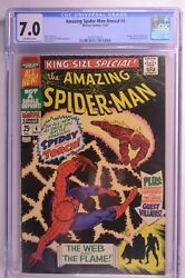 Amazing Spider-man King-size Special 4 Cgc 7.0 Ow 11/1967 Marvel