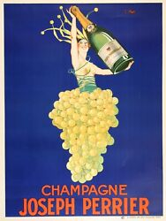 Original French Champagne Joseph Perrier Poster By Stall 1930's
