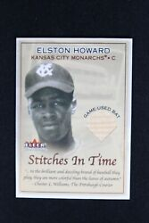 2001 Fleer Tradition Baseball Stitches In Time Elston Howard Game Used Bat Card