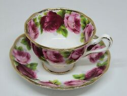 Vintage Royal Albert Old English Rose Cup And Saucer