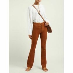 Frame Mini Bootcut Suede Lace-up Pants Nwt