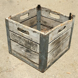 Willow Farm Dairy Milk Wooden Crate Chicago, Il Wood Box  .    1