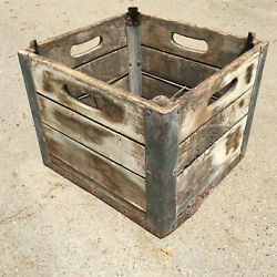 Willow Farm Dairy Milk Wooden Crate Chicago, Il Wood Box  .    2