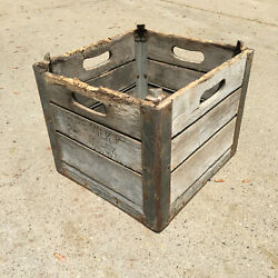 Willow Farm Dairy Milk Wooden Crate Chicago, Il Wood Box  .    3