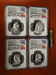 2020 1 Cook Islands Proof Silver Lost States Of America Ngc Pf70 4 Coin Set