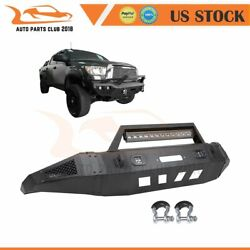 5/32 Steel Front Bumper Guard W/ Bright Lights For 07-13 Toyota Tundra Texured