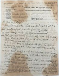 George Washington Carver Encouraging Letter To His Mentee And First Polio Signed