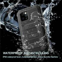 Ip68 Waterproof Metal Case Cover With Screen Protector For Iphone 12 Pro Max