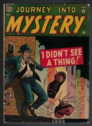 Atlas Marvel Comics 4.0 Journey Into Mystery 3 1952 Vg I Didnand039t See Thing