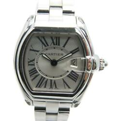 Auth Roadster Pm Watch Stainless Steel White 6460