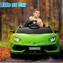 12v Licensed Lambo Ride On Car Electric Kids Toys Remote Control Mp4 Led Wheels