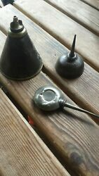 3 X Vintage Miniature Oil Cans/ Oilers -