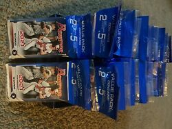 Mlb Topps 2021 Bowman Baseball Trading Cards Value Pack Lot Of 37 - 29cards A Pk