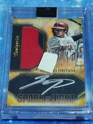 Shohei Ohtani Set Of Re-write Autograph Card With Limited Actual Use Patch Topps