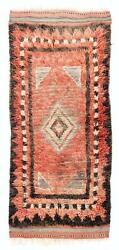 3.5x7.7 Ft Antique Handmade Central Anatolian Tulu Rug In Soft Red And Brown