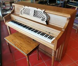 Bechendorff Young Chang L-44 Upright Piano Height 44bench Walnunt 0248971