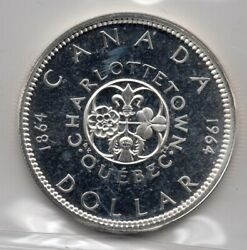 1964 Canada One Silver Dollar - Iccs Pl-66 Cameo