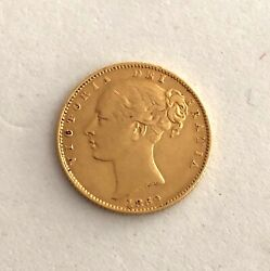 Look At This Error--------great Britain 1869 Gold Shield Sovereign Victoria