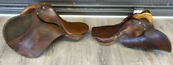 Lot Of 2 Whitman Quality Horse Saddles English + Jumping Forged Steel Used