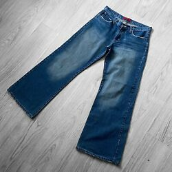 Womenand039s Addison Jeans Co. Vintage Edition Jeans Size 12 Blue Zip Fly Flared Vgc