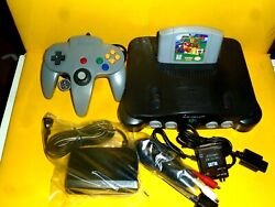 Nintendo 64 Console Complete W /super Mario 64 The Best Game Excellent Condition