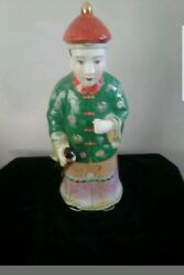 Maitland Smith Asian Emperor Statue Figural Figurine Made In Hong Kong